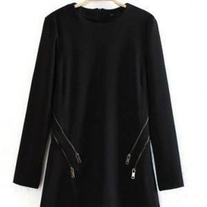 Zara woman black zipper dress size S